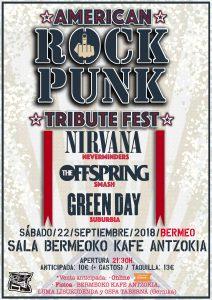 American Rock Punk Tribute Fest @ Bermeoko Kafe Antzokia