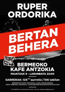 Ruper Ordorika @ Bermeoko Kafe Antzokia